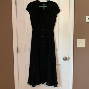 100% Silk Lauren Ralph Lauren Petites Dress
